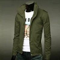 New Slim men's jacket Designed Mens cotton  Jacket Coat colorful solid color plus size XXXL  Wholesale&Retail,free shipping