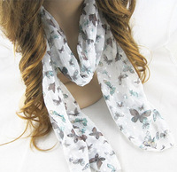 New 10pieces/lot Fashion  Accessories Women's Scarves animal butterfly  Design long Scarf