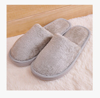Free shipping At Home Lovers Slippers Cotton Warm Shoes For Women And Men Wool Cotton-padded Solid Color Household shoes Thermal