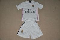 2014-2015 Real Madrid Kids Jersey Ronaldo kids Uniform Cristiano Ronaldo child Soccer Jerseys Custom Sports Suit
