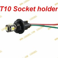 LED T10 socket T10 bulb holder led T10 W5W T15 T8 T13 plug-in light bulb extension cable holder 100pcs/lot free shipping!