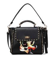 bags women,skull bag,doctor bag,designer handbags, A face printing,A low profile and make public