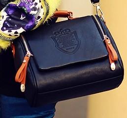 new 2014 han edition handbag British double crown bag fashion hand the bill of lading shoulder bag(China (Mainland))