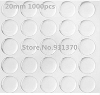 1000pcs 20mm clear epoxy stickers dome Circle for DIY jewelry 3d effect self -adhesive