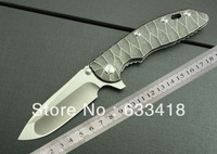 New2014  Wild Boar Hinderer CTS.XM-18 D2 Blade Full TC4 TITANIUM CNC Handle Folding knife TC4--F91