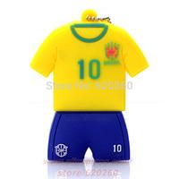 Memory pendrives Brazil jersey pendrive 4gb 8gb 16gb 32gb Brasil football clothing usb flash drive World Cup jerseys Pen drive