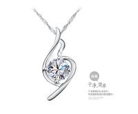 Free shipping 925 pure silver necklace female pendant female fashion accessories chain