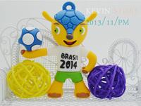 High Quality New 2014 Brasil World Cup Mascot KODOTO Fashion Gift Minions8--64G USB 2.0 memory flash stick pen drive/disk/car