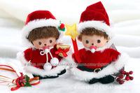 WJ115 Fashion Novelty Lovely Plush Stuffed Doll Toy Monchhichi Christmas Style 15 CM Supernova Sale Baby Pretty Gift