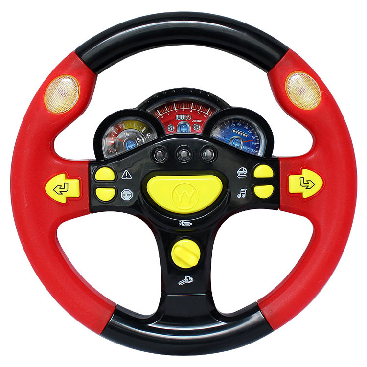 Free shipping , Hot!!! child the base steering wheel toy children light music toy car Steering wheel kid parenting puzzle game(China (Mainland))