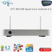 Ugoos UT1 Rockchip RK3188 Quad Core Cortex A9 Google Android 4.2 Mini TV BOX Player 2G/8G Dual Wifi Antennas Ethernet XBMC AV