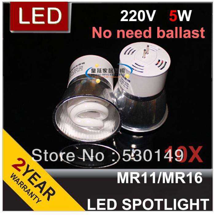 Integrated energy-saving led lamp cup Ceiling spotlights bulbs Bovine white MR16 MR11 220V 5W Light Source(China (Mainland))