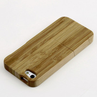 1pcs Wood  Durable Hard Back Cover Case Protector For iphone 4 4S 5 5S New Free Shipping