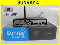 Newest decoder Sunray SR4 800hd SE 3 in 1 tuner -T -C -S(2S) Triple tuner wifi SIMA8P Sunray4 HD se DHL European free shipping