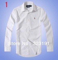 HOT! Free Shipping 2013 Mens Slim fit Unique neckline stylish Dress long Sleeve Shirts Mens dress shirts 6 colors ,size: S-XXL