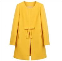 Free ship 2013 autumn and winter woolen outerwear medium-long cashmere overcoat women's plus size