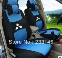 TOP Quality Thickening Sandwich Auto Seat Car Covers Full Set Interior Accessories for MITSUBISHI V3/LANCER Silver/Black/Red