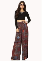 Bohemia wide leg pants Fashion trousers new style ladies pants women palazoo 0376 free shipping