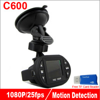 New Arrival Mini Size Full HD Car DVR 1920*1080P 12 IR LED Car Camera  Video Recorder C600 Car Camera Recorder Russian Dash Cam