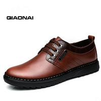 Free shipping 2014 New arrivals spring  autumn Men's casual shoes fashion flats  Male genuine leather shoes
