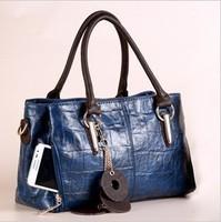 2014 New hot sale 8 colors fashion genuine leather women's handbag charm cowhide for lady's shoulder bag