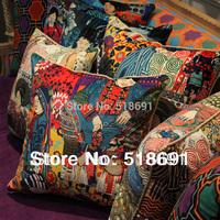2014 ethnic style velvet sofa bed pillow cushion cushion cores containing large backrest cushion covers wholesale free shipping
