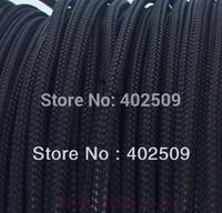 Brand new 10M/lot  Black 2mm insulation lightning shielding PET braided sleeving best quality,low price