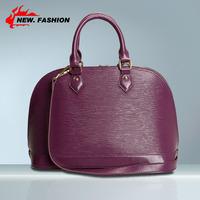 Hot New 2014 Fashon Elegant Popular Shell Striped Women Genuine Leather Handbag Designers Brand Shoulder Bag Lady Messenger Bags