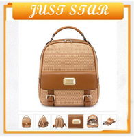 2013 new fashion design luxury brand leaher+PU  free shipping  aliexpress PU backpack for women from shenzhen