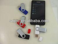 16GB Mini Metal Rotate Smart Phone For Android OTG USB2.0  Flash Drive U-disk Pen Drive Thumb Stick Dual Port KDATA