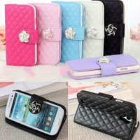 Free shipping  Luxury Leather Flip Wallet Stand Case Cover for Samsung Galaxy S4 9500 c9511