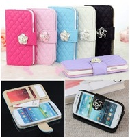 Free shipping  Luxury Leather Flip Wallet Stand Case Cover for Samsung Galaxy S3 9300 c9311