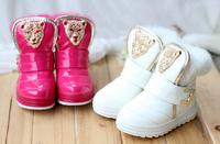 Children snow boots,boys and girls plus velvet short shoes,kids soft padded bottom metal warm snow boots,little children shoes