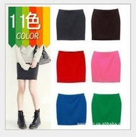 New Knit Womens Sexy A Line Candy Color Slim Seamless Pencil hip Mini Skirt elastic Elastic High Waist Stretchy Size M L