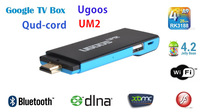 Quad-core mini PC android 4.2 TV box stick dongle UM2 RK3188 2GB/8GB Bluetooth DLNA 1080P XBMC whole sale 10pcs/lots