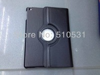 Fashion PU Leather Smart Cover case 360C rotating Case for iPad Air, with stand,sleep/wake up,50pcs/otl