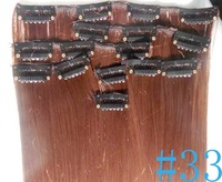 """Wholesale/22"""" (55cm) 140g straight 7 clips in on hair extensions High temperature silk matte  Free Shipping #2 Darkest Brown"""