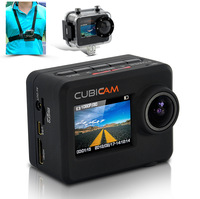 Waterproof 1080p HD Sports Camera, Cubicam - 5MP, Body Strap & Multi Mount Accessory  free shipping