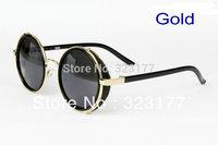 2014 Unisex Italy Geek Round Vampire Sunglasses Fashion Designer Sun Glasses Kasubi Vintage Punk Gafas de sol lunette Free ship