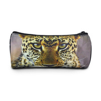 New leopard round animal pencil case kids nylon pen case cute school stationary , Bistar Gaxaxy BBP101P