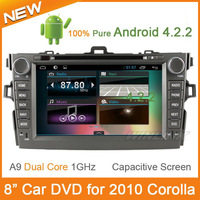 """8"""" Pure Android 4.2.2 Toyota Corolla 2007 2008 2009 2010 2011 Car DVD Capacitive 3G Wifi Dual Core Radio RDS BT GPS Navigation"""