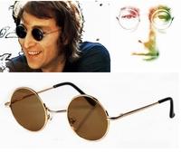 2 Colors Hippies Retro Round Vintage Style John Lennon Wearing UV400 Sunglasses