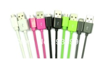 Free Shipping!!50pcs Colorful Micro USB Cable Data sync Charger cable For Samsung galaxy/htc