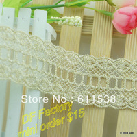 4cm wide  garment lace and clothing lace hair accessory material hair bow accessories(MOQ 10 yards/lot