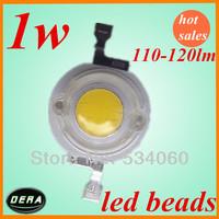 30pcs/lot 1w  high power  white LED lamp beads 110-120lm epistar  1w led light  Beads  free shiping