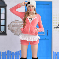 Pink baby doll watermelon red coral fleece ultra soft home low-waist shorts