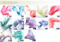 Wholesale - Belly Dance Veil Poi 1 SET = 2 Veils + 2 Poi Chains Multicolour