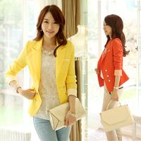 2015 women blazer spring and autumn suit slim long-sleeve plus size outerwear shorts  women casual blazer free shipping 15