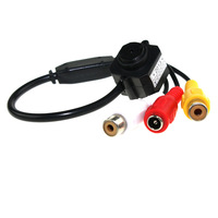"Subminiature Super Mini 1/3"" Color CMOS 3.6mm Lens Security Indoor Video Audio Mic Monochrome Camera Wired CMOS For FPV #40de"