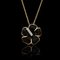 New Style Enamel Floral Necklace,Designer Vintage Evening Dress Shourouk Bijoux,18K Gold.FreeShipping,Wholesale 2pcs 12%OFF,N009